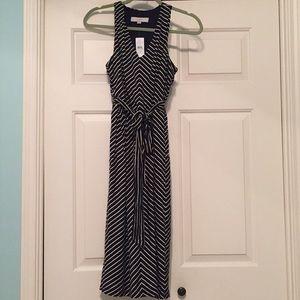 Loft Blue and White Dress